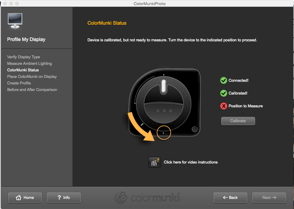 ColorMunki Calibration Wizard